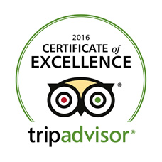 Tripadvisor-Certificate of Excellence 2016